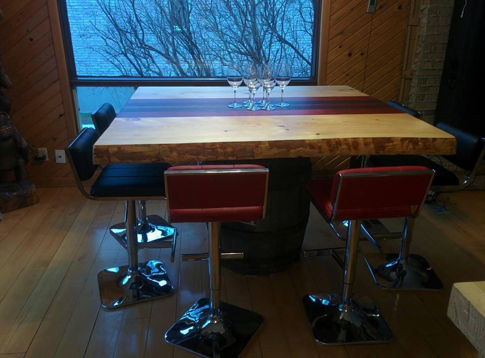 Table cuisine live edge table sur mesure bois b nisterie - Table de cuisine sur mesure ...