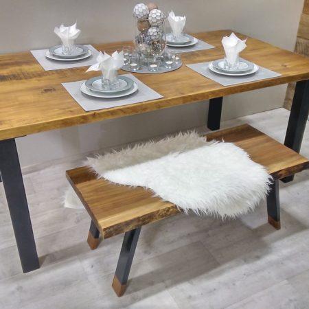 table de cuisine sur mesure bois et bois-métal - table à dîner - Table De Cuisine Sur Mesure