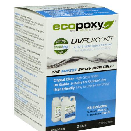 UVPOXY résine époxy écopoxy format 2L pour vente en ligne disponible chez l'ébénisterie de lanaudière