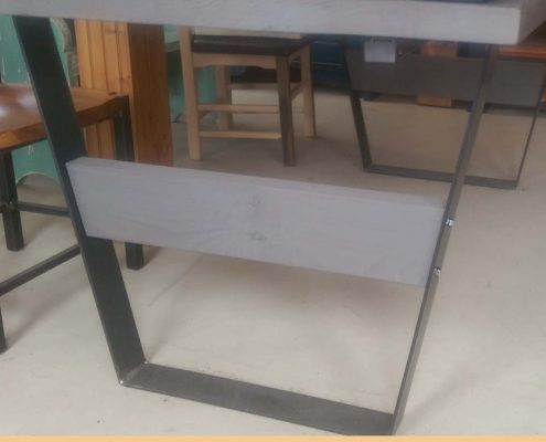 Base table bois et métal l'ébénisterie lanaudière